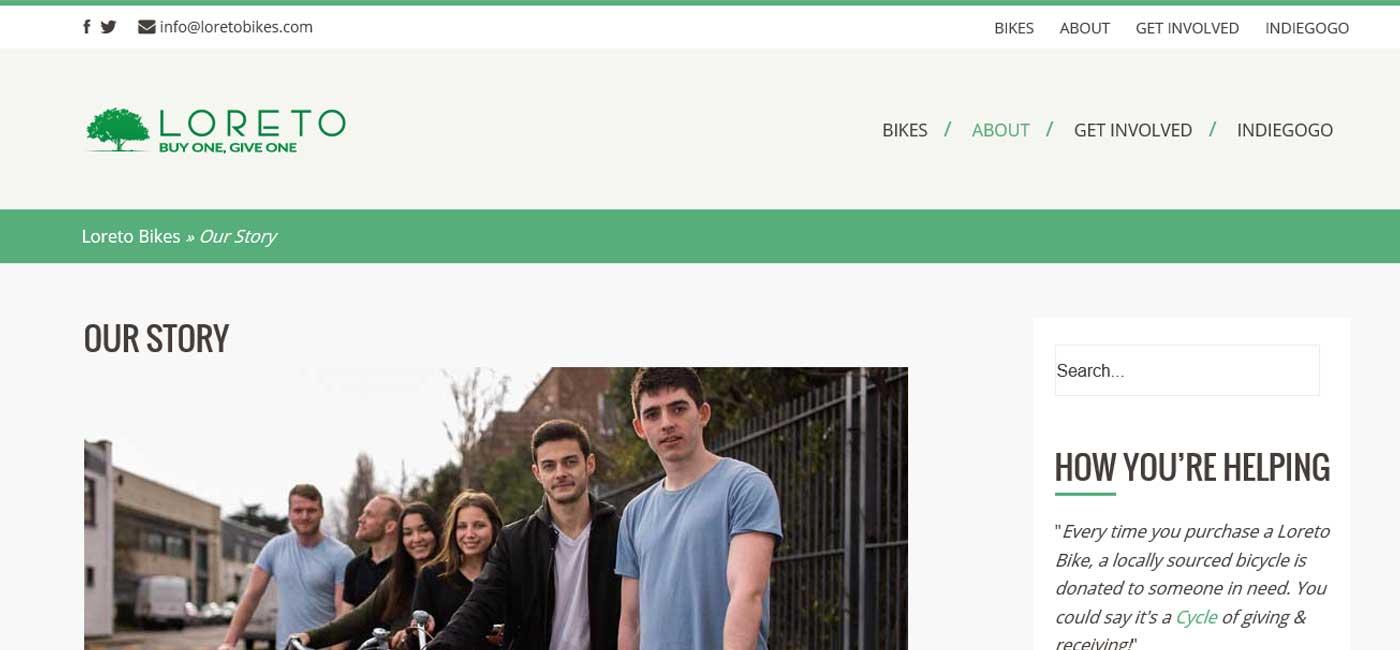 ecommerce website developer loreto bike shop