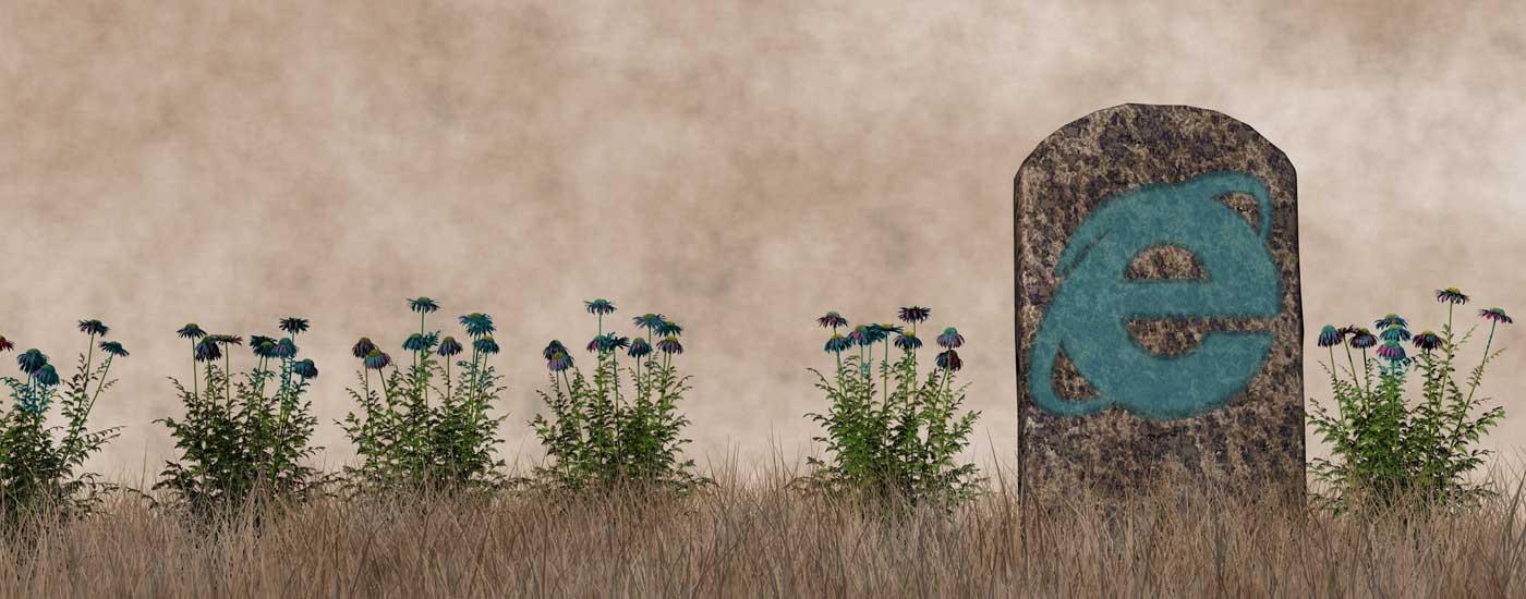 internet explorer versis edge browser gravestone end of life notice
