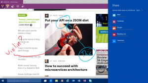 webnote microsoft edge feature