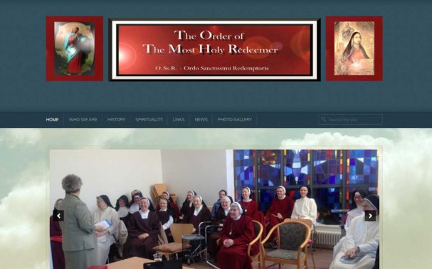 professional web design for redemptorist nuns ireland