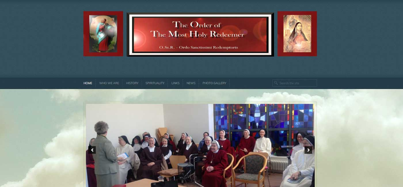 professional web design for redemptorist nuns ireland