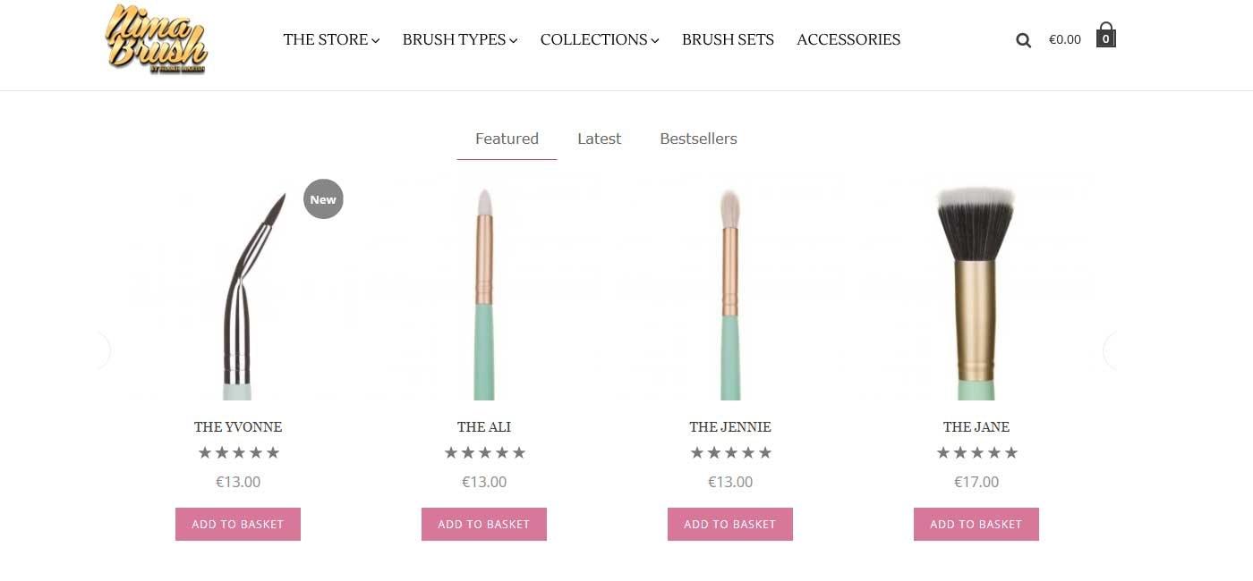ecommerce web design products